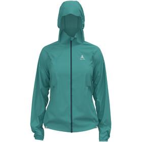 Odlo Zeroweight Dual Dry Water Resist Jacket Women, Turquesa